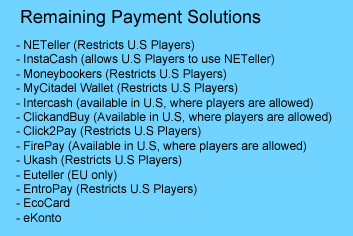 Available Payment Solutions